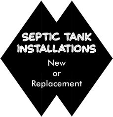 Septic Tank Installations for homeowners or builder contractors with a warranty