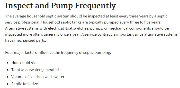 EPA Septic Tank Pumping